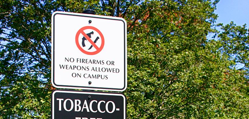 no guns on college campus