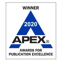 Winner 2020 Apex Award for Publication Excellence